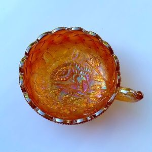 Carnival Glass Handled Bowl